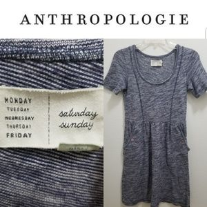 ANTHRO Sat/Sun Gray Cotton Blend Dress